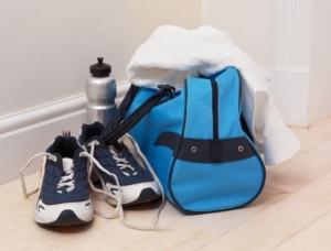 male blue gym bag
