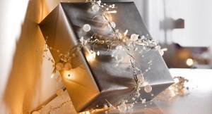 shiny silver wrap