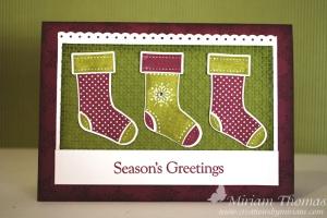 stocking xmas card
