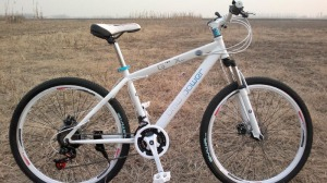 white mountain bike