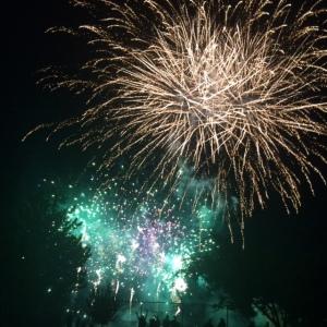 green & big fireworks