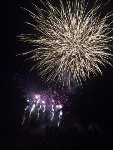 purple & big fireworks